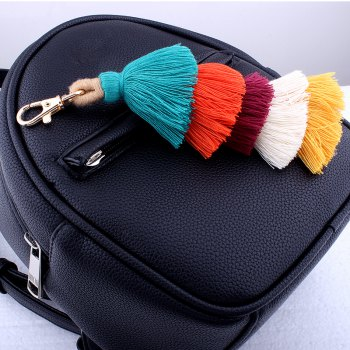 Single Color Multilayer Fringe Key Ring Fashion Bag Mobile Phone Accessories - COLORFUL