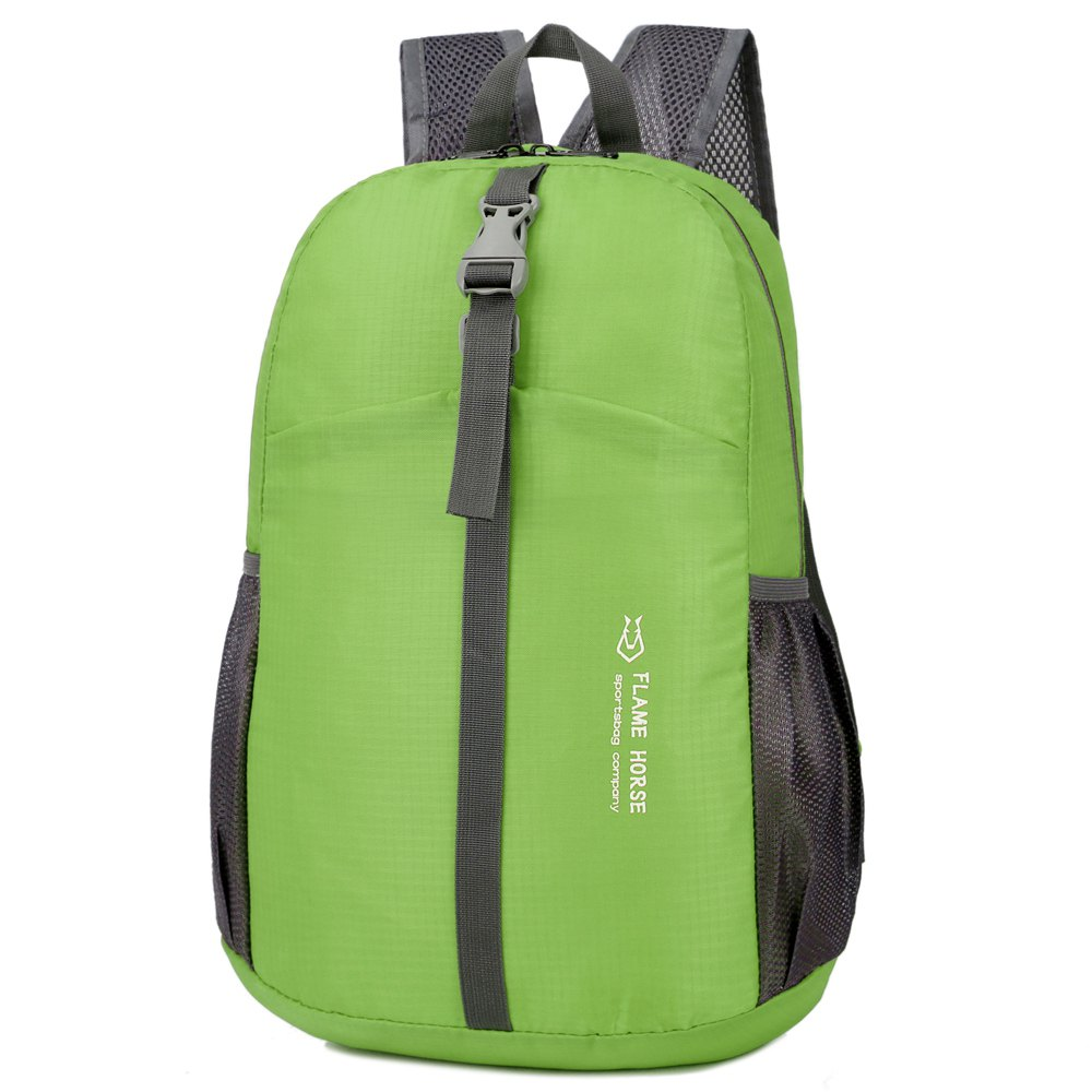 Skin Pack Folding Nylon Waterproof Storage Bag Yoga Pack - GREEN