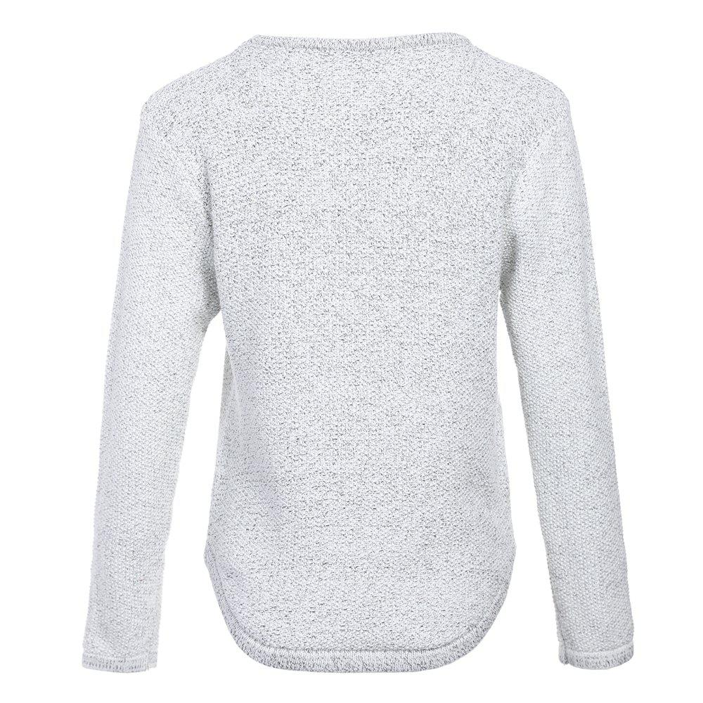 Women's Sweater Heart Shape Pattern Comfy Pullover - GRAY ONE SIZE