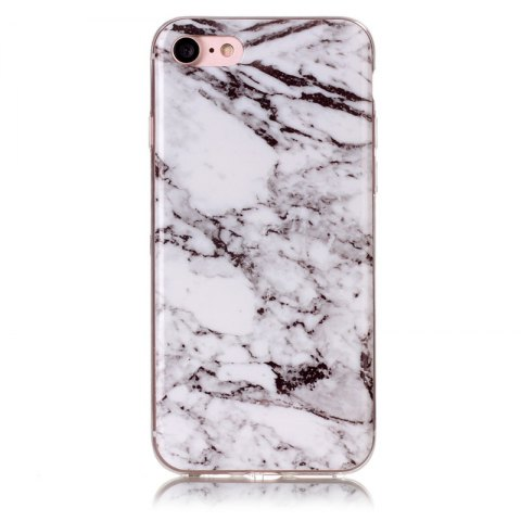 Marble Pattern TPU Back Cover Case for iPhone 8  - White - WHITE