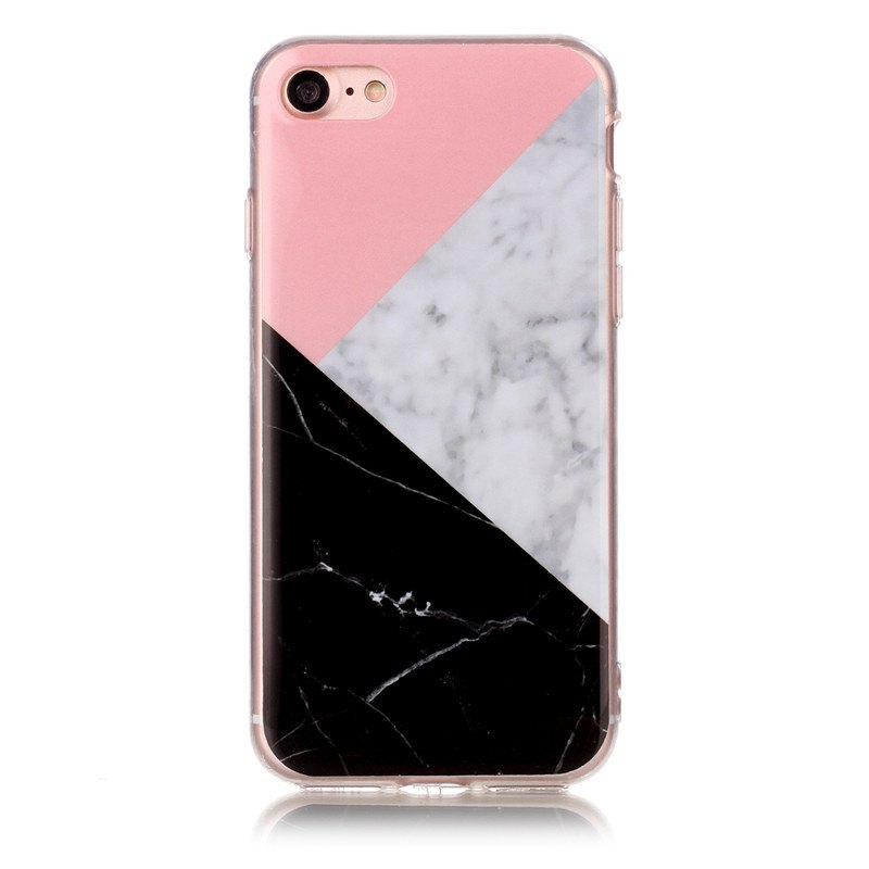 Marble Pattern IMD TPU Back Cover Case for iPhone8 Tricolor Pattern - multicolorCOLOR