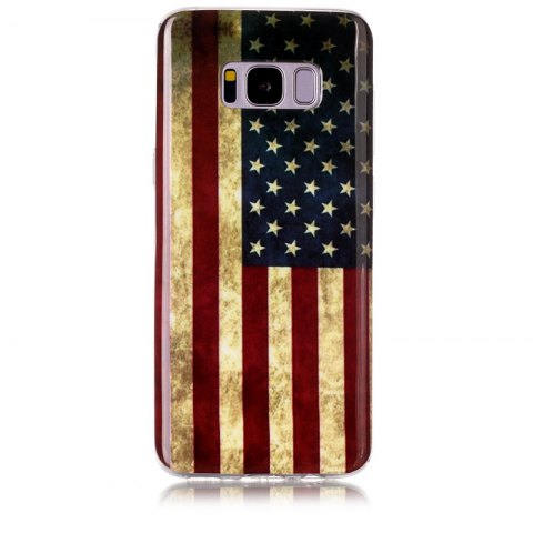Retro Pattern Soft TPU Anti-scratch Back Cover Case for Samsung S8 - multicolorCOLOR