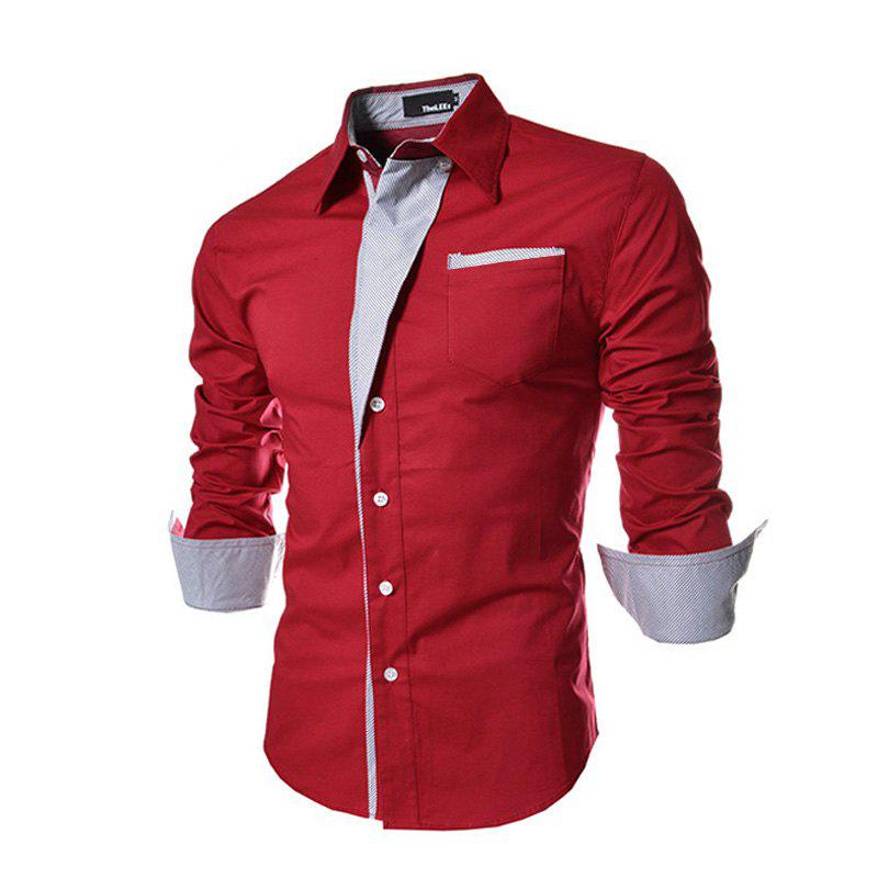 Men's Wear Long Sleeve Shirt - RED L