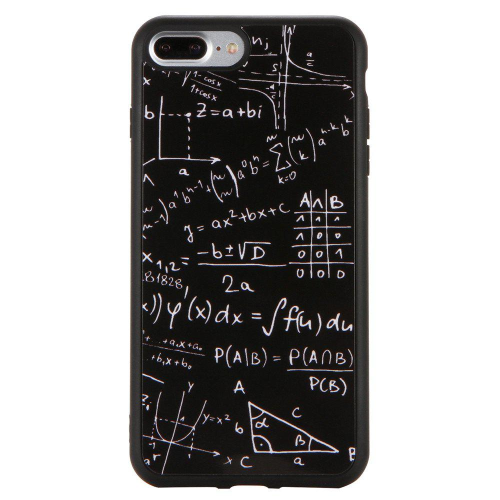 TPU Digital Pattern Phone Case for iPhone 8 Plus - BLACK