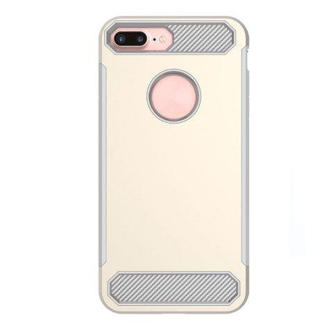 Carbon Fiber Drop-proof Skid Phone Case for iPhone 8 - YELLOW