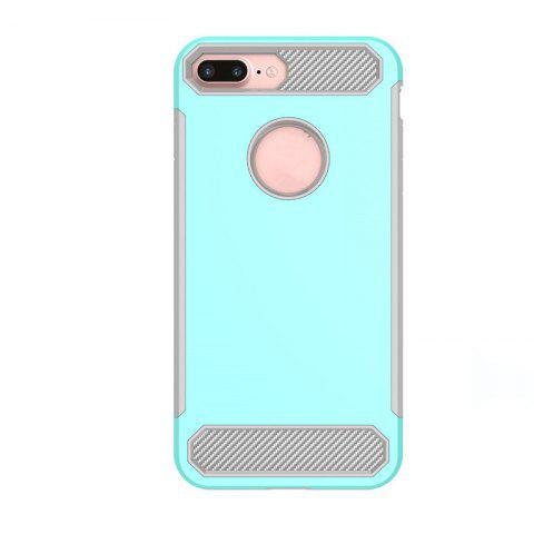 Carbon Fiber Drop-proof Skid Phone Case for iPhone 8 - BLUE