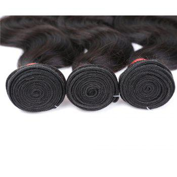 Natural Color Indian Body Wave Unprocessed Virgin Human Hair weaves 1pc / 100g - BLACK BLACK