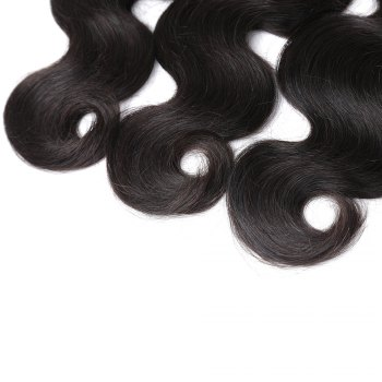 Natural Color Indian Body Wave Unprocessed Virgin Human Hair weaves 1pc / 100g - BLACK 12INCH
