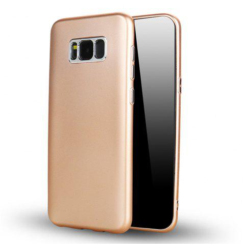 Hardware Ring Injection TPU Mobile Phone Cover for Samsung S8 - GOLDEN