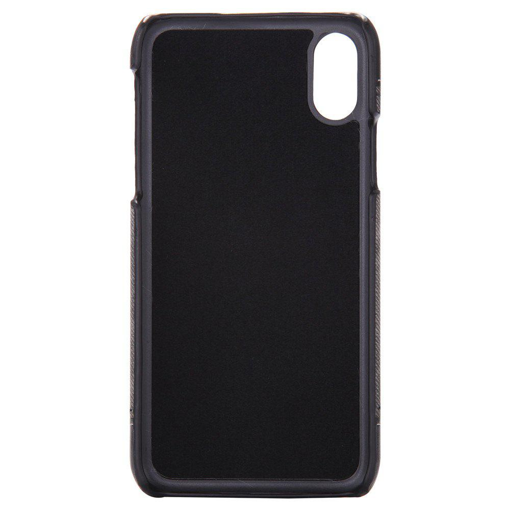 Denim Protective Shell for Mobile Phone for iPhone X - BLACK