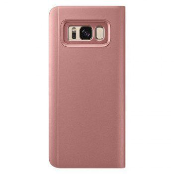 Cuir PU Smart View Flip Cover avec Béquille pour Samsung Galaxy S8 - Or Rose