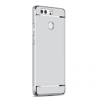 Luxury Hybrid 3 in 1 Plating PC Hard Back Cover for Huawei P10 Plus - SILVER SILVER