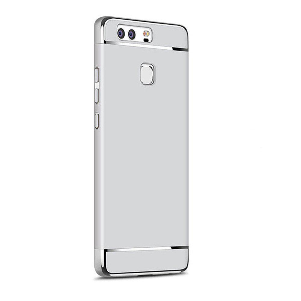 Luxury Hybrid 3 in 1 Plating PC Hard Back Cover for Huawei P10 Plus - SILVER