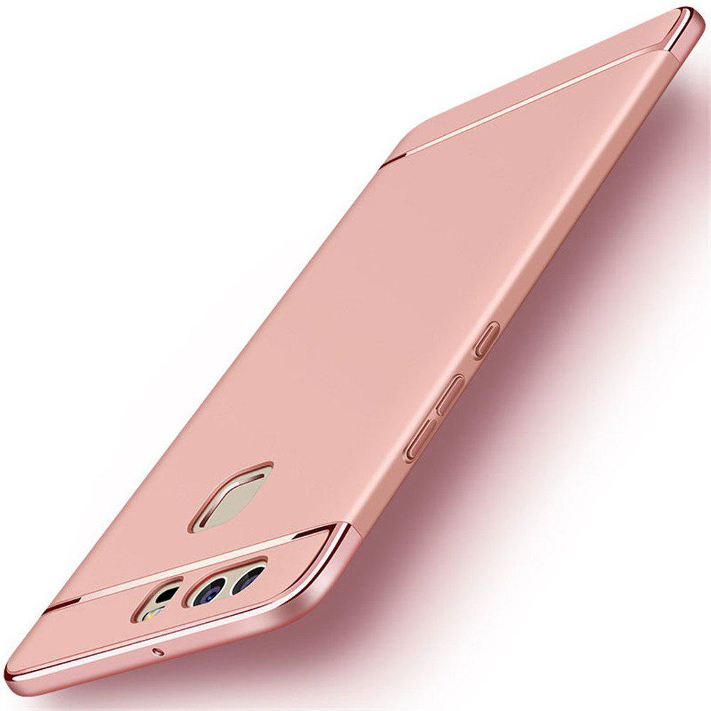 Luxury Hybrid 3 in 1 Plating PC Hard Back Cover for Huawei P10 Plus - ROSE GOLD