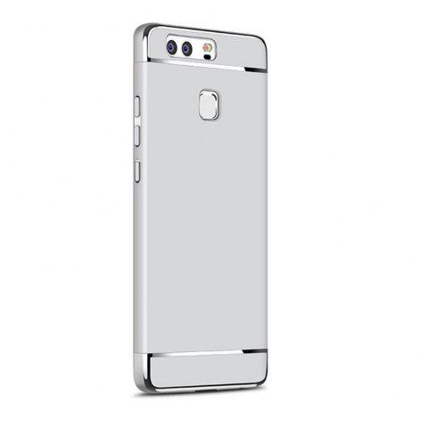 Luxury Hybrid 3 in 1 Plating PC Hard Back Cover for Huawei P9 Plus - SILVER