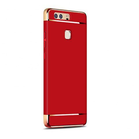 Luxury Hybrid 3 in 1 Plating PC Hard Back Cover for Huawei P9 Plus - RED