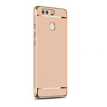 Luxury Hybrid 3 in 1 Plating PC Hard Back Cover for Huawei P9 Plus - GOLDEN GOLDEN