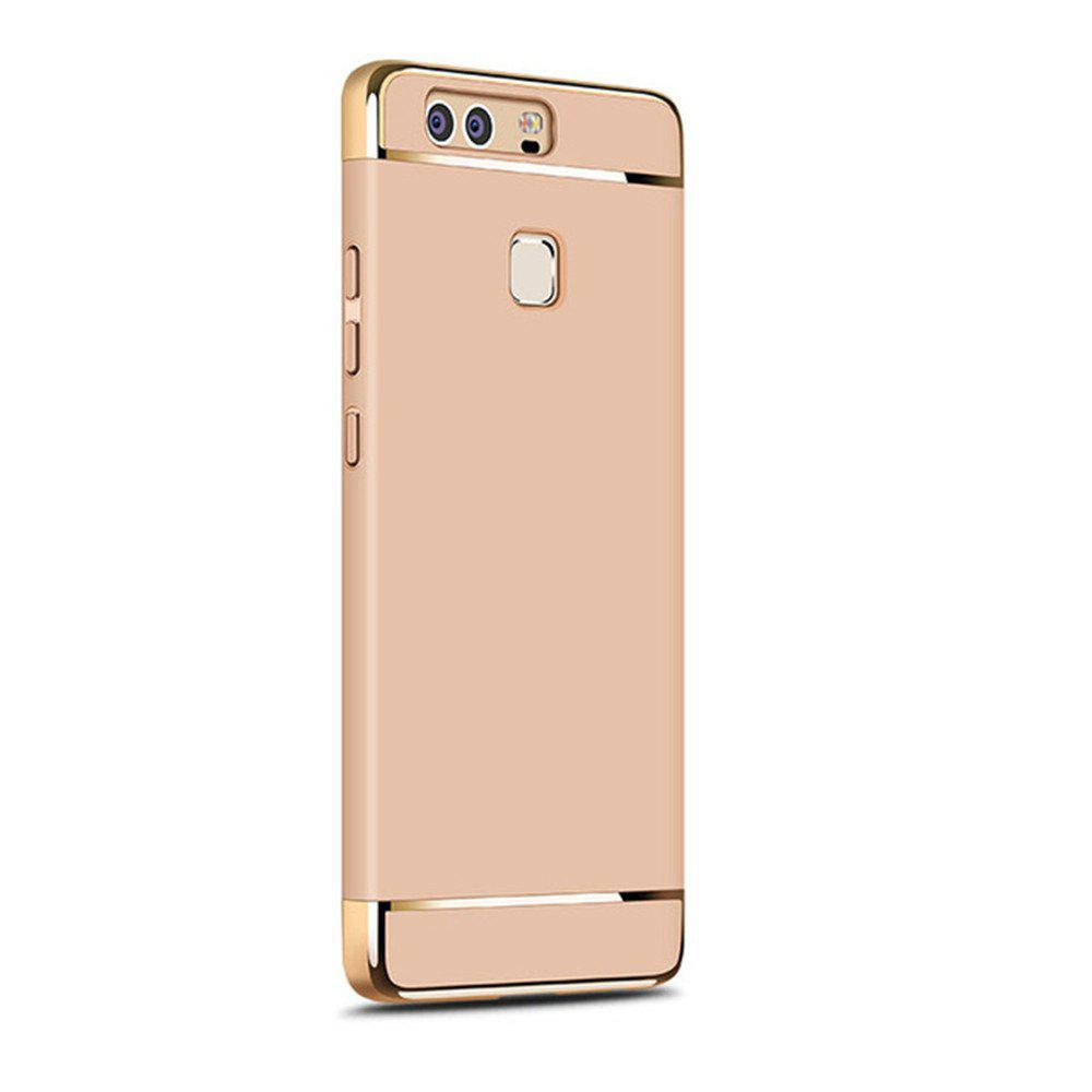 Luxury Hybrid 3 in 1 Plating PC Hard Back Cover for Huawei P9 Plus - GOLDEN