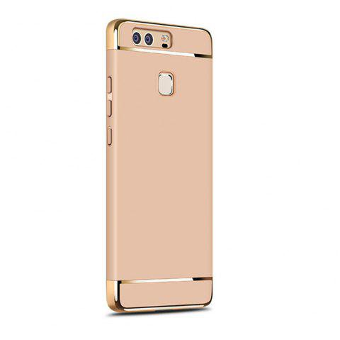 Luxury Hybrid 3 in 1 Plating PC Hard Back Cover for Huawei P9 - GOLDEN