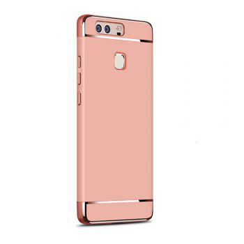 Luxury Hybrid 3 in 1 Plating PC Hard Back Cover for Huawei P9 - ROSE GOLD ROSE GOLD