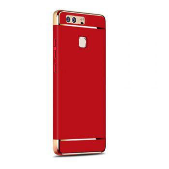 Luxury Hybrid 3 in 1 Plating PC Hard Back Cover for Huawei P9 - RED RED