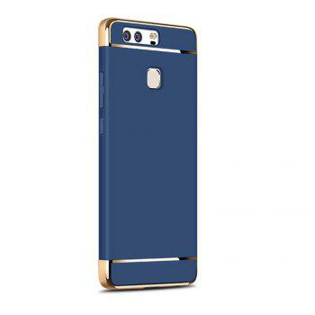 Luxury Hybrid 3 in 1 Plating PC Hard Back Cover for Huawei P9 - BLUE BLUE