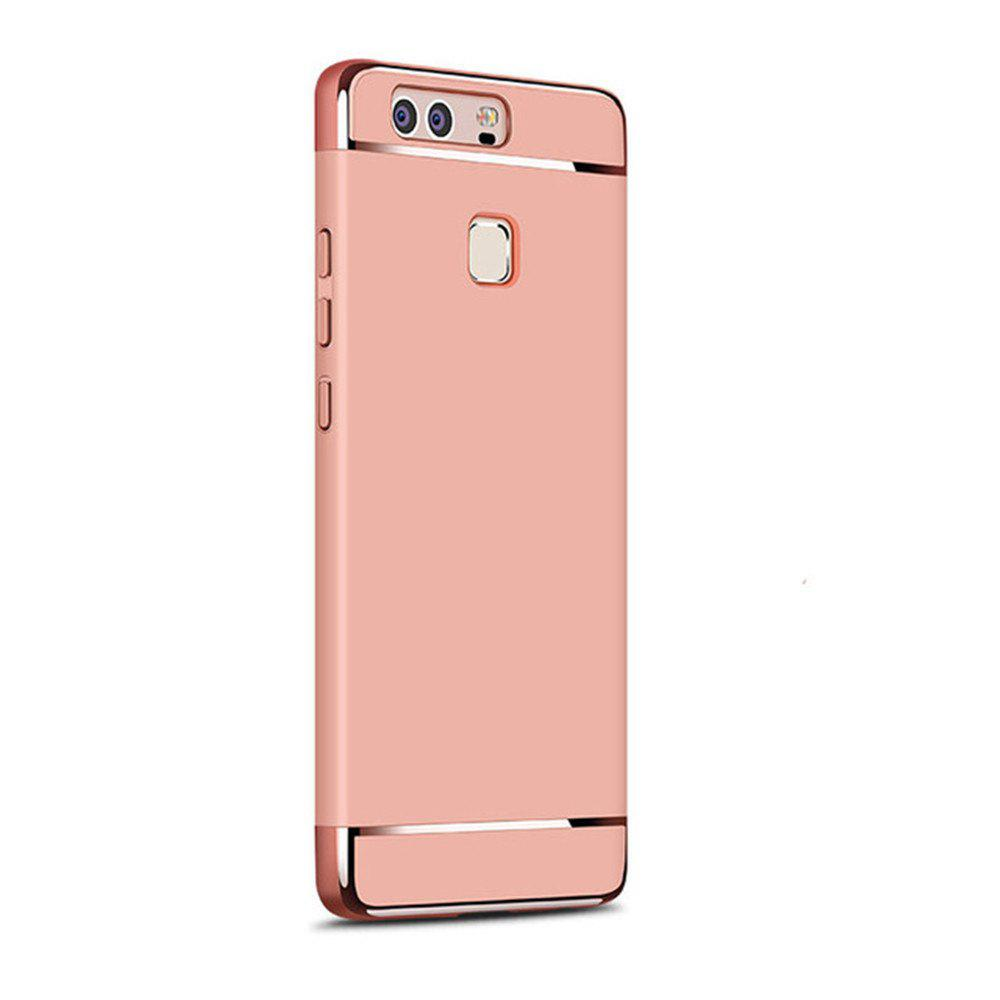 Luxury Hybrid 3 in 1 Plating PC Hard Back Cover for Huawei P9 - ROSE GOLD