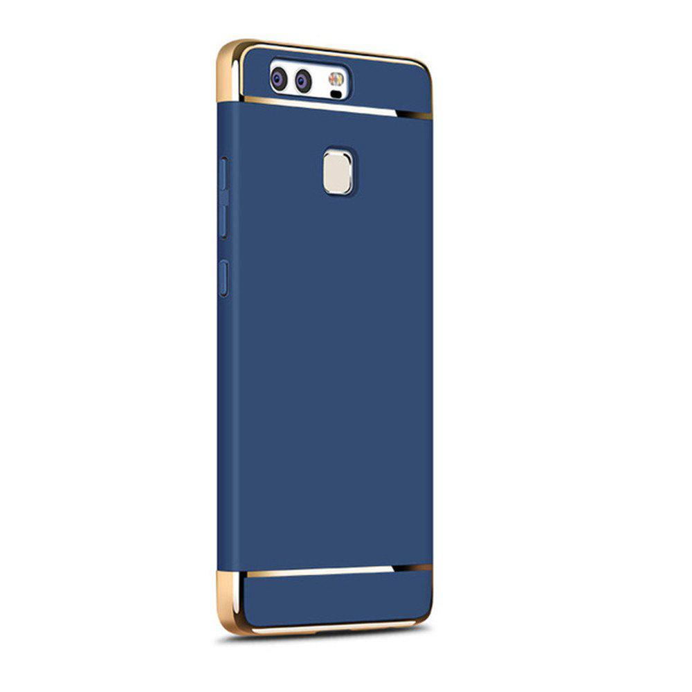 Luxury Hybrid 3 in 1 Plating PC Hard Back Cover for Huawei P9 - BLUE