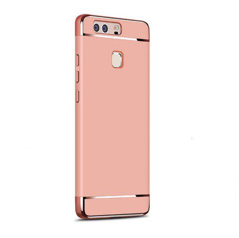 Luxury Hybrid 3 in 1 Plating PC Hard Back Cover for Huawei P9 Lite - ROSE GOLD
