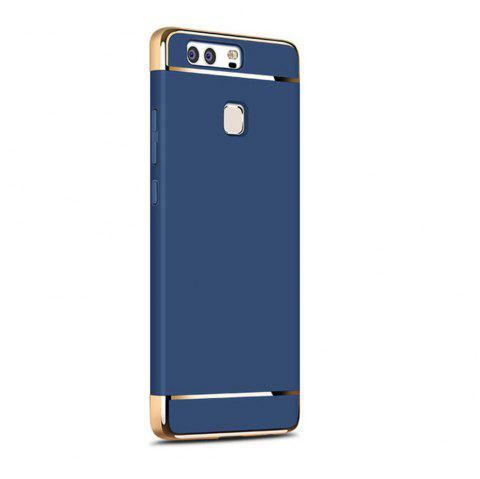 Luxury Hybrid 3 in 1 Plating PC Hard Back Cover for Huawei P9 Lite - BLUE