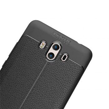 Luxury Leather Business Litchi Pattern PU Soft TPU Cover Case for  Huawei P10 Plus - BLACK