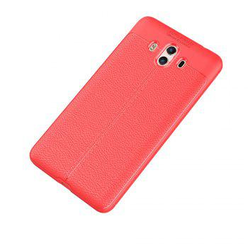 Luxury Leather Business Litchi Pattern PU Soft TPU Cover Case for  Huawei P10 Plus -  RED