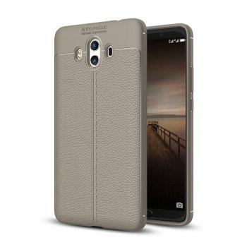 Luxury Leather Business Litchi Pattern PU Soft TPU Cover Case for  Huawei P10 Plus - BROWN BROWN