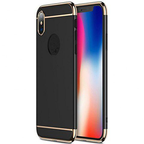 3 in 1 Hybrid Hard Plastic case Ultra Thin and Slim Anti-Scratch Matte Finish for over  iPhone X Case - BLACK