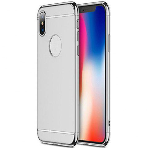 3 in 1 Hybrid Hard Plastic case Ultra Thin and Slim Anti-Scratch Matte Finish for over  iPhone X Case - SILVER