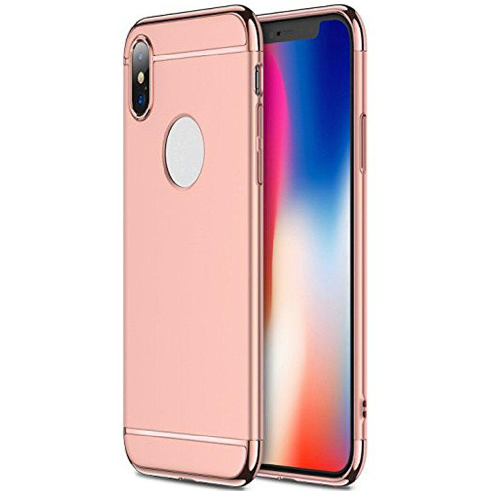 3 in 1 Hybrid Hard Plastic case Ultra Thin and Slim Anti-Scratch Matte Finish for over  iPhone X Case - ROSE GOLD