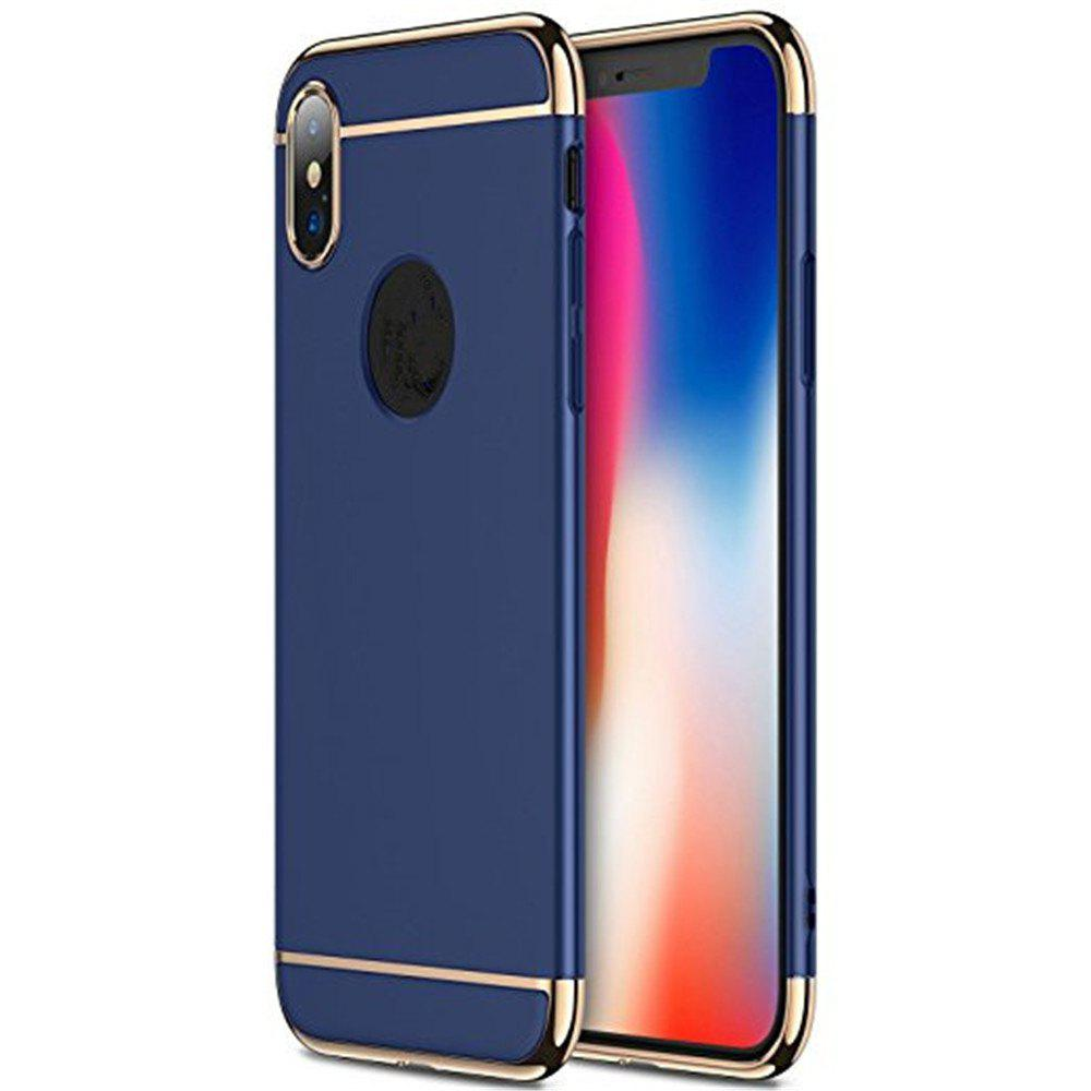 3 in 1 Hybrid Hard Plastic case Ultra Thin and Slim Anti-Scratch Matte Finish for over  iPhone X Case - BLUE