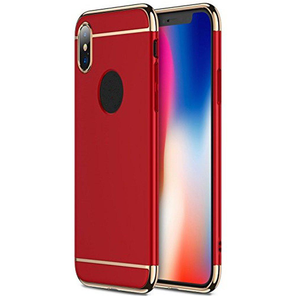 3 in 1 Hybrid Hard Plastic case Ultra Thin and Slim Anti-Scratch Matte Finish for over  iPhone X Case - RED