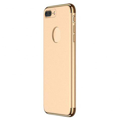 3 in 1 Hybrid Hard Plastic Case Ultra Thin and Slim Anti-Scratch Matte Finish Cover for iPhone 7 / 8 Case - GOLDEN