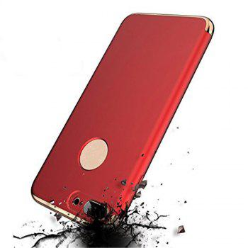 3 in 1 Hybrid Hard Plastic Case Ultra Thin and Slim Anti-Scratch Matte Finish Cover for iPhone 7 / 8 Case - RED