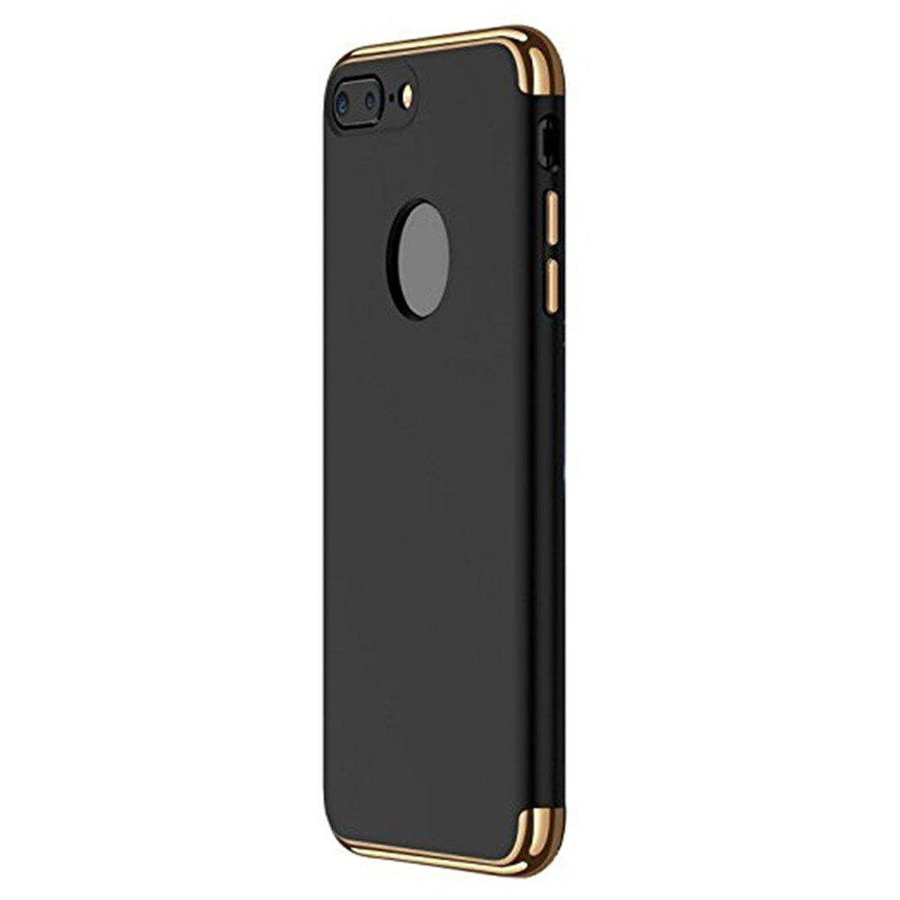 3 in 1 Hybrid Hard Plastic Case Ultra Thin and Slim Anti-Scratch Matte Finish Cover for iPhone 7 / 8 Case - BLACK
