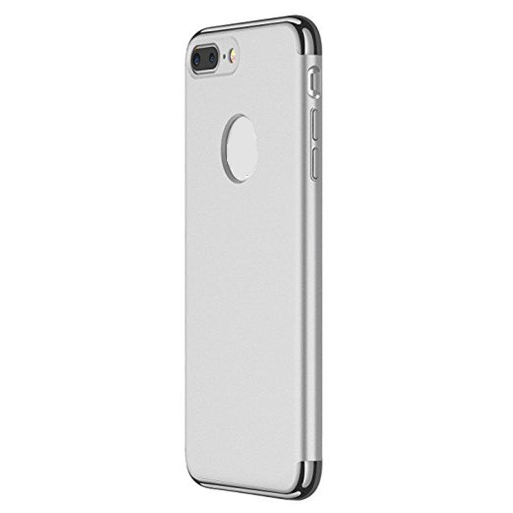 3 in 1 Hybrid Hard Plastic Case Ultra Thin and Slim Anti-Scratch Matte Finish Cover for iPhone 7 / 8 Case - SILVER