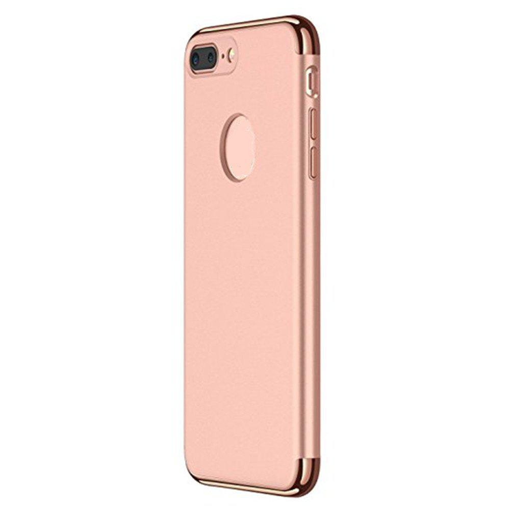 3 in 1 Hybrid Hard Plastic Case Ultra Thin and Slim Anti-Scratch Matte Finish Cover for iPhone 7 / 8 Case - ROSE GOLD