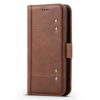 Wallet  Premium Protective PU Leather Flip Cover Card Slot Side Pocket Magnetic for  Samsung Galaxy S8 Plus Case - BROWN BROWN