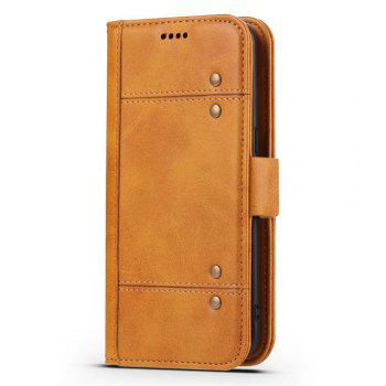 Wallet  Premium Protective PU Leather Flip Cover Card Slot Side Pocket Magnetic for  Samsung Galaxy S8 Plus Case - ORANGE ORANGE