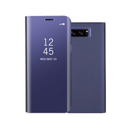 for Samsung Galaxy Note 8 Cover with Stand Mirror Auto Sleep/Wake Up Full Body Case Solid Color Hard PU Leather - PURPLE