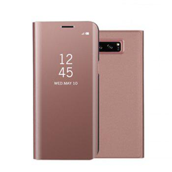 for Samsung Galaxy Note 8 Cover with Stand Mirror Auto Sleep/Wake Up Full Body Case Solid Color Hard PU Leather - ROSE GOLD ROSE GOLD