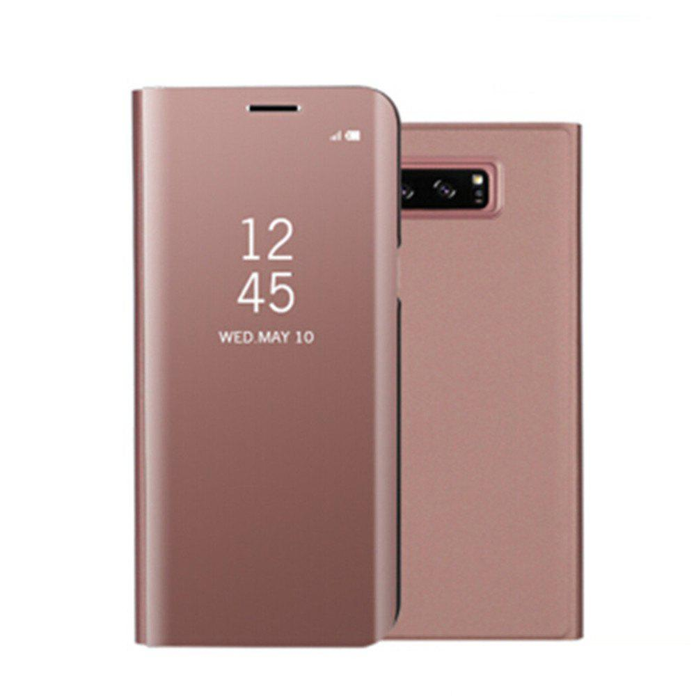 for Samsung Galaxy Note 8 Cover with Stand Mirror Auto Sleep/Wake Up Full Body Case Solid Color Hard PU Leather - ROSE GOLD
