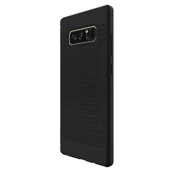 Dustproof Back Cover Solid Color Soft TPU for Samsung Galaxy Note 8 Case -  BLACK