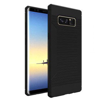 Dustproof Back Cover Solid Color Soft TPU for Samsung Galaxy Note 8 Case - BLACK BLACK
